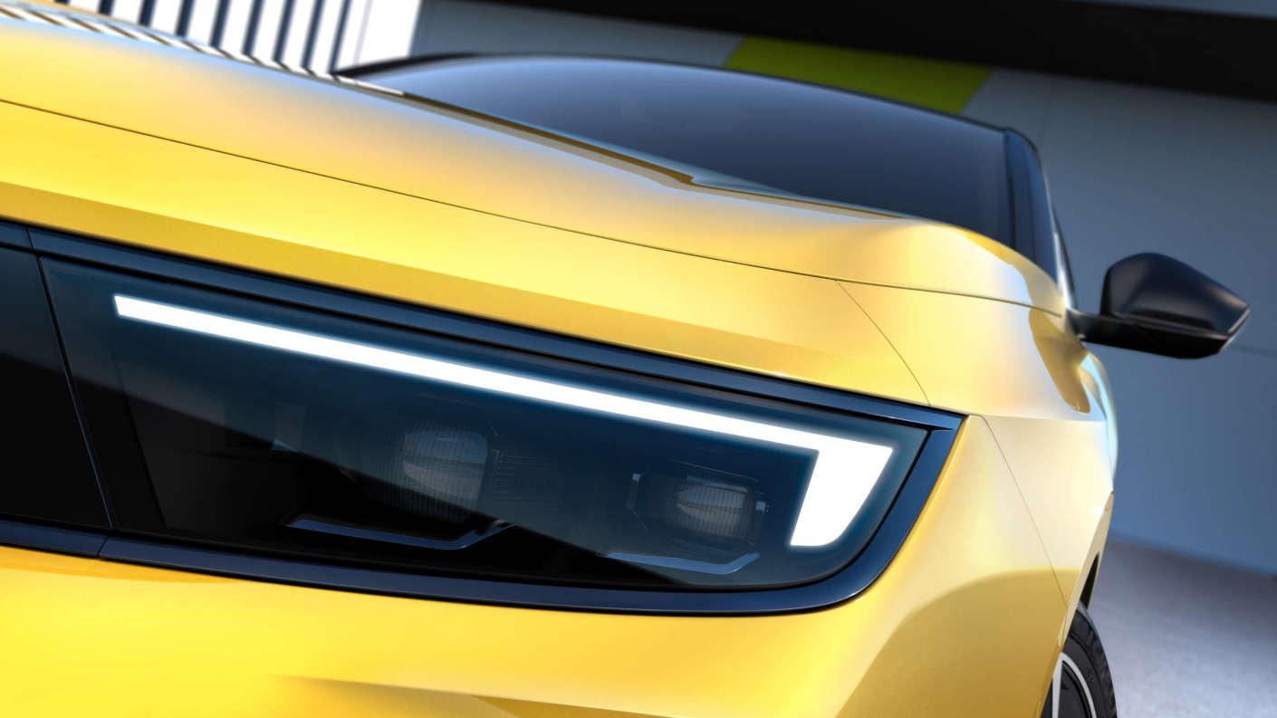 Opel Astra, ліва фара