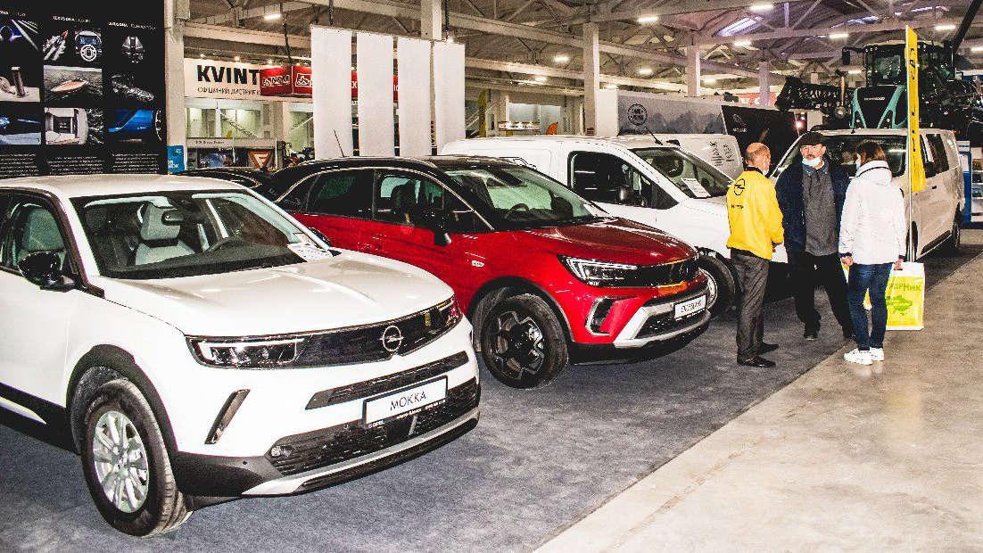 Автомобільний ряд Opel на виставці AgroExpo