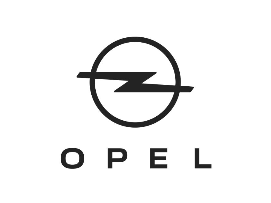 Логотип Opel набілому тлі