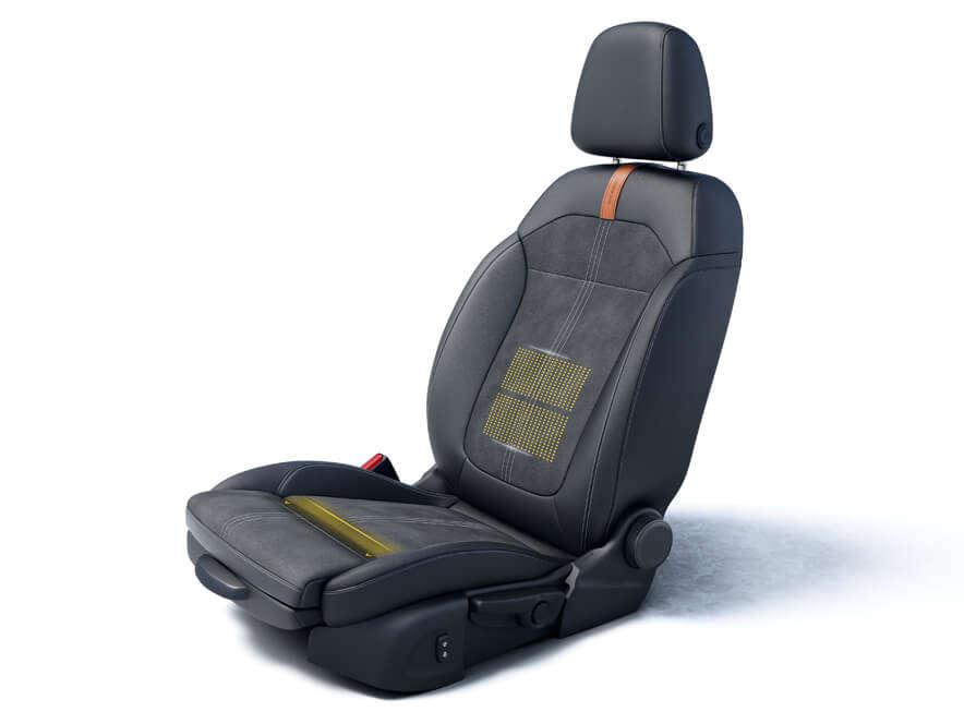 Opel Crossland, Ергономічні сидіння зсертифікатом AGR